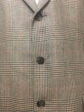 Burberry Mens Houndstooth Plaid Size 42R 3 Button 42 Regular Sport Coat Jacket