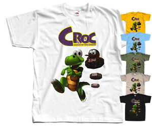 Croc Legend of the Gobbos,COMPUTER GAME, T-Shirt (YELLOW,OLIVE)All sizes S-5XL.