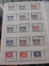 Sammlung, Schweiz Ämter 1956-1963, Eckrand 62 verschiedene, gestempelt (934)