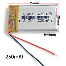 3.7V 250mAh 402035 Polymer Li-Po Rechargeable Battery For Mp3 Bluetooth GPS PSP