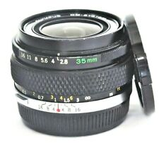 Olympus G.Zuiko Auto-W 35mm F/2.8 Lens No. 197022 Very Good Condition