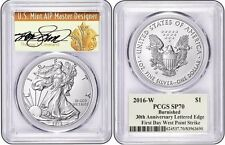 2016-W SILVER EAGLE SP70 FIRST DAY OF ISSUE THOMAS S CLEVELAND SIGNED 30th Ann