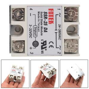 1Pc Solid State Relay Module Heat Sink SSR-25DA 4-32V DC 7.5A/12V Accessory