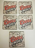 Coors Lite Mountains Logo Beer Brewery Double Side Coasters 5 Pack