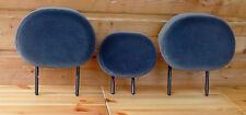3 appuie-tête repose tete siege banquette arriere gris foncé C3 avaec 6 guides