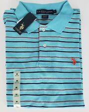 U.S. Polo ASSN. Mens Medium Striped Polo Golf Shirt Short Sleeve NWT