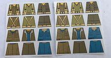 Custom 24 stickers british soldiers WW2 set1 x 2 - SIZE - lego torso