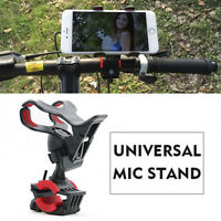 Universal Microphone Mic Stand Phone Holder for iPhone Samsung Smart Phones