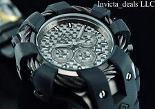 Invicta Men's 50mm BOLT Chronograph Black COMBAT Black Carbon Fiber Dial Watch