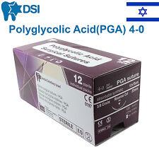 PGA 4/0 Polyglycolic Acid Sewing Thread 20mm 3/8 Circle Reverse 75cm 12 pcs
