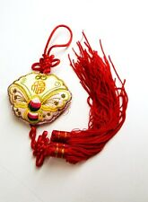 """13"""" Feng Shui Chinese Oriental Lucky Money Wealth Gold Coins Charm Wall Tassel A"""