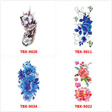 4X Flowers Tattoos Waterproof Body Temporary Tattoos Sticker Removable USA