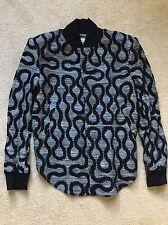 Vivienne Westwood Squiggle Chemise Ourlet Bomber veste manteau