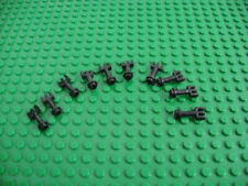 10x LEGO Black Hinge Bar with 3 Fingers and End Stud Control Level #2433