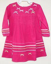 NWT Deux par Deux Fushia Rose Corduroy Dress ~ Girl's Size 12 Month