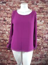 JLO Purple Long Sleeve Detail Blouse Top Shirt Size XL