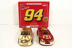 RACING CHAMPIONS SET ~ BILL ELLIOTT ~ #94 McDONALD'S ~ GOLD - RED ~ 1/64