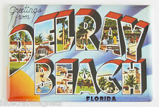 Greetings from Delray Beach Fridge Magnet (2 x 3 inches) florida travel souvenir