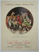 Vintage Restaurant Menu Brass Rail NY WWII Stage Door Canteen Home Front 1942