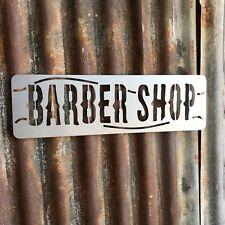 Signo de metal acero barberos tienda tienda frente Casa peluquería Peluquería Salon
