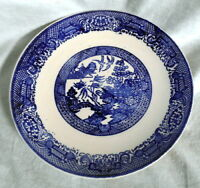 """Vintage, Unmarked BLUE WILLOW 10"""" DINNER PLATE"""