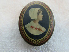 "Early Celluloid Brass Premium pin ""Your Credit Is Good At The New England"" Bank"
