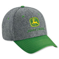 JOHN DEERE *HEAVY WOOL* Trademark Logo HAT CAP *BRAND NEW w/Tag!*