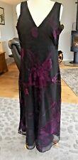 Per Una Premium Party/Occasion Dress, size 18, black & deep purple. GORGEOUS!!!