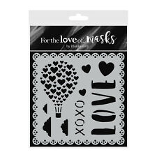 LOVE IS IN THE AIR - Stencil - For The Love of Masks - Hunkydory