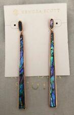 New Kendra Scott Brooklyn Rose Gold Abalone Shell Earrings $110.00