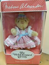 Madame Alexander The Well Dressed Bear Happy Birthday Girl New In Box