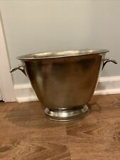 Match Pewter classic double champagne bucket Handmade in Italy Msrp $695
