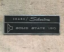 Sears Silvertone 1465 Amp METAL LOGO BADGE ONLY RARE Solid State 150 6x10 Jensen