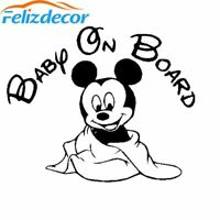 Hot Selling Mickey Mouse Baby on Board Car Decal Cute Baby Cartoon Funny Sticker