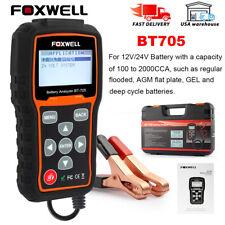 12V 24V Battery Tester FOXWELL BT705 Automotive 100-2000 CCA Battery Load Tester