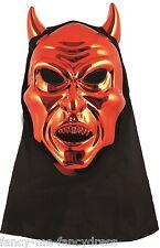 Hombre Mujer Negro Rojo Con Capucha Diablo Halloween Máscara disfraz