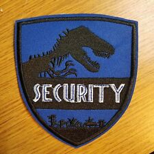 Jurassic World Park Security  Blue Uniform/Costume Patch 4 inches wide