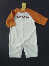 GYMBOREE Outdoor Whimsy One Piece Fleece Racoon Romper 0 - 3 Months NEW