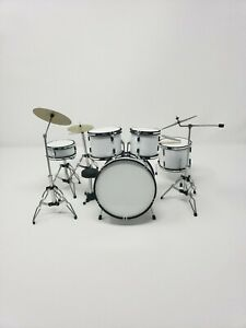 Miniature Drum Set WHITE Replica. For Display Only