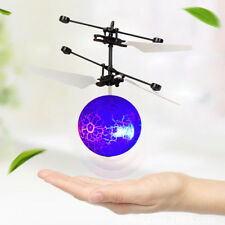 Mini RC Flying Ball Helicopter LED Flashing Light Funny Body Design Kids Toy