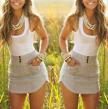 Fashion Women Summer Casual Sleeveless Party Evening Cocktail Short Mini Dress