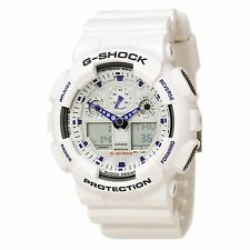 Casio GA100-7 Men's G-Shock Ana-Digi White Resin Alarm Anti-Magnetic Dive Watch