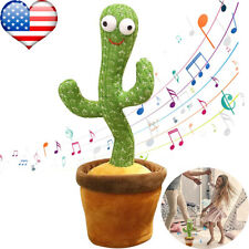 Dancing Cactus Plush Toy Electronic Shake Dancing Singing Succulent Kid Gift US