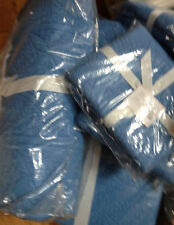 Pottery Barn Hanna Quilt Set King 2 Euro Shams Wholecloth French Blue New