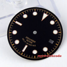 30.4mm black dial super luminous Sub Watch Dial  for ETA 2824 2836 Movement 24