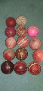 14 used cricket  Balls (read discription)