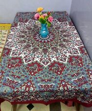 Tablecloth Rectangular Cotton Dining Table Cover Elephants Kitchen Banquet SH15