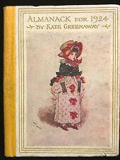 KATE GREENAWAY ALMANACK FOR 1924, 1st / 1st Illustrated Flowers Children