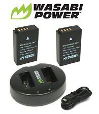 (2-Pack) and Dual USB Wasabi Power Battery Charger for Nikon EN-EL20, EN-EL20a