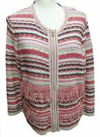 Women's Zip Up Sweater by Carlisle / XL / Multi Color